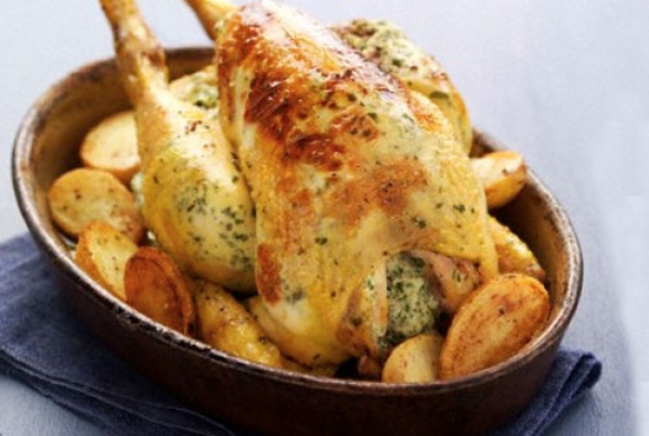 steamed and stuffed chicken