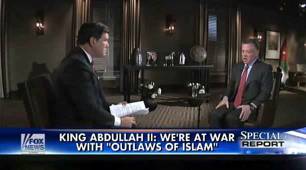 King Abdullah II- We're War With Outlaws Of Islam