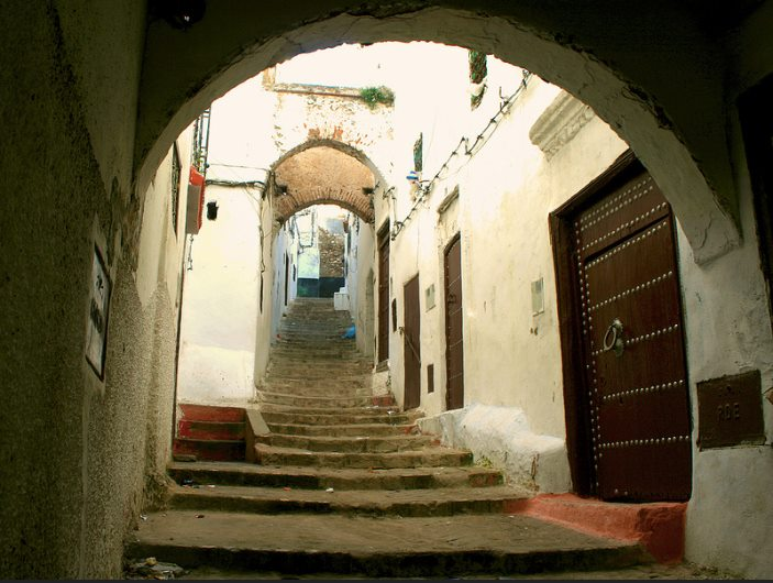 The town Tétouan in Morocco