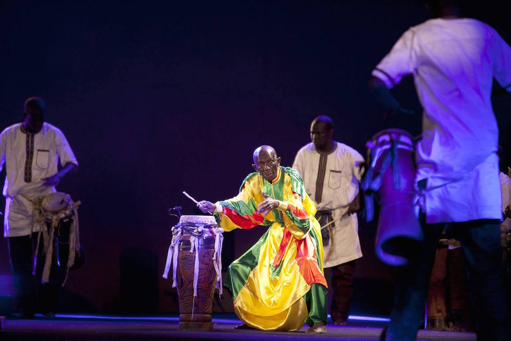 Doudou N'Diaye Rose et les Tambours Sabars. Photo credit- Omar Chennafi