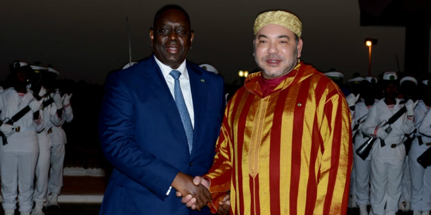 King Mohammed VI and Senegal's President Macky Sall