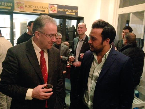 Mayor Aboetaleb (Left) Nourding El Ouali (Right)