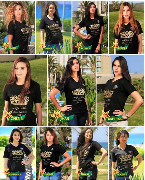 Participants at Miss Morocco 2015
