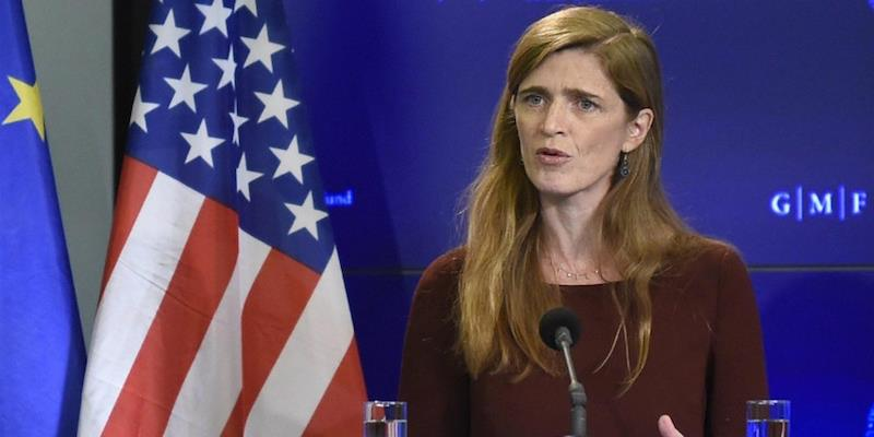the US ambassador to the UN Samantha Power