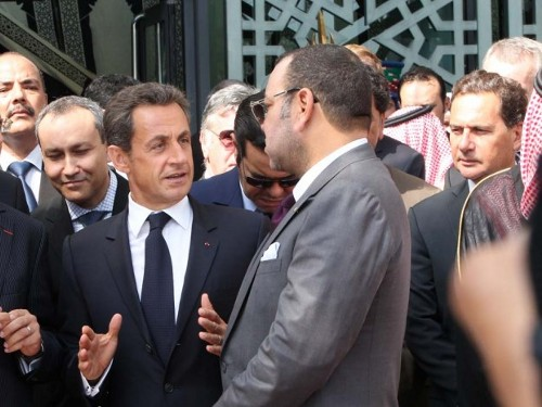 King Mohammed VI and Nicolas Sarkozy