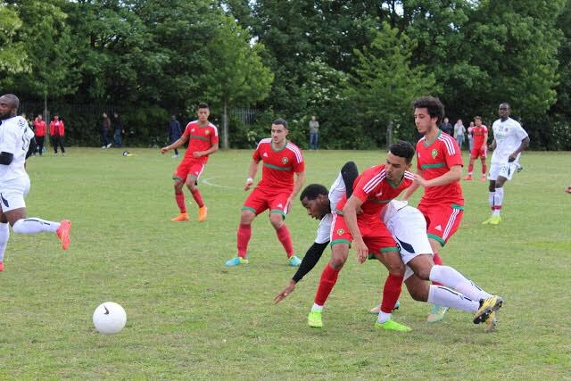 Moroccan team playing at the Arican Nations Cup in London