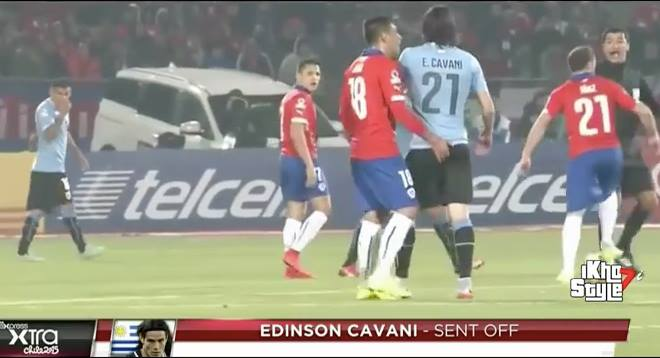 Shameful Behavior: Jara Puts His finger in Cavani's Backside