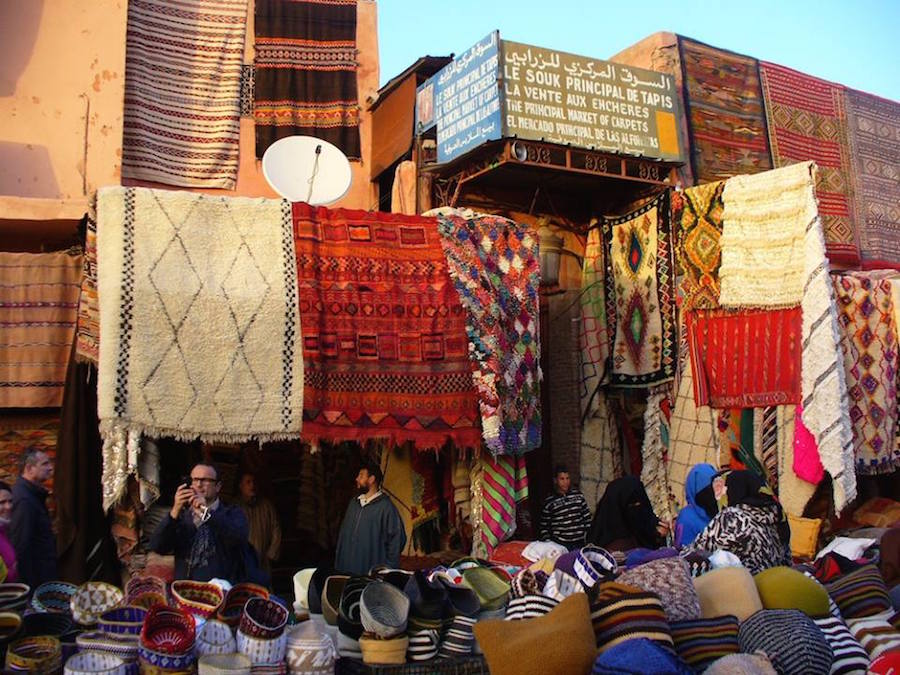The souks of Marrakech display a spectrum of vibrant colours