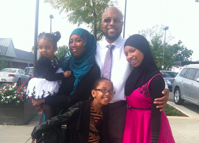 Black Muslim family