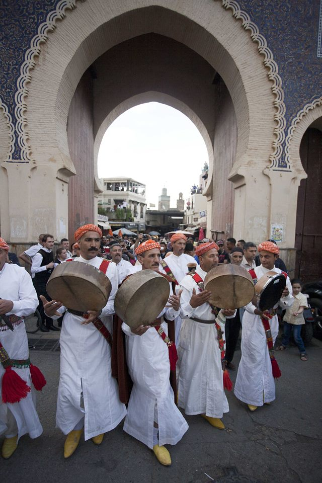 Boujloud Gate in Fez. Moroccan Music. Spiritual Music. Photo By Omar Chennafi
