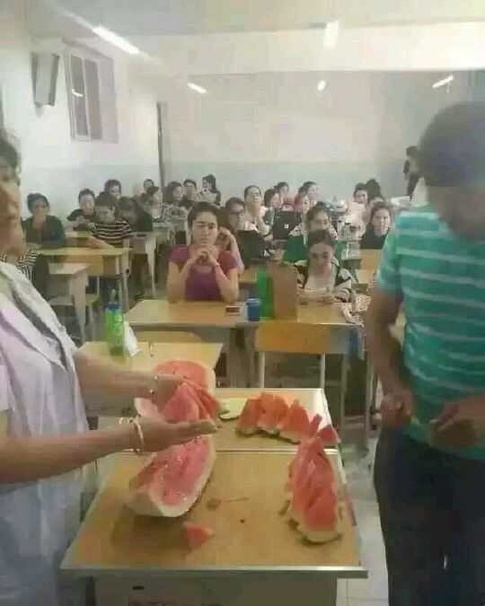 China forces students to eat during Ramadan