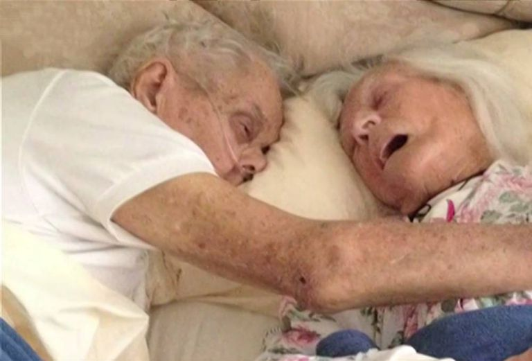 Couple married 75 years dies in each other's arms