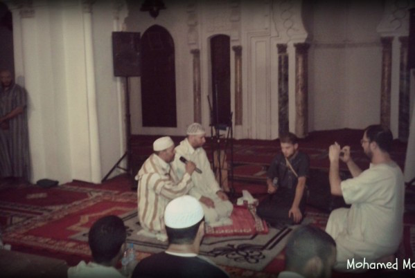 French and Swiss Men Convert to Islam in Marrakesh's Koutoubia Mosque