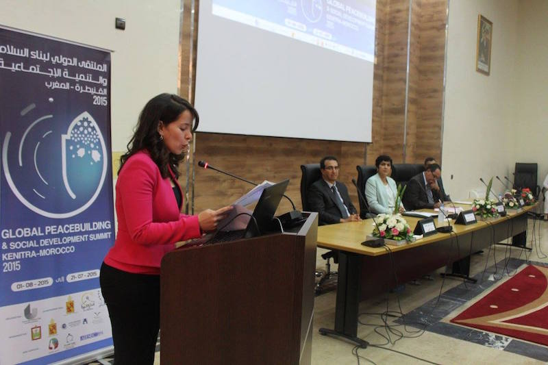 Maroua El Hani, Active Leaders for Women's Advancement in the Near East. Picture credit: GPSD Summit - Kenitra