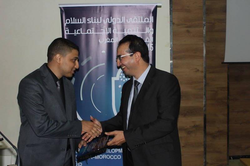 Mr. Zine El Abidine Taoussi, The President of Dar Lekbira Association (L), Mr. Akram Cheggari (L)