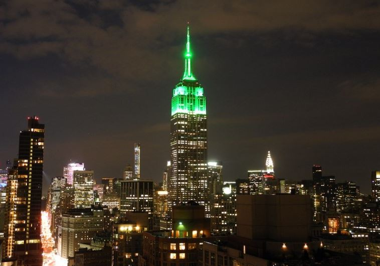 New York's Empire State Building Lit Up in Green to Celebrate Eid al Fitr