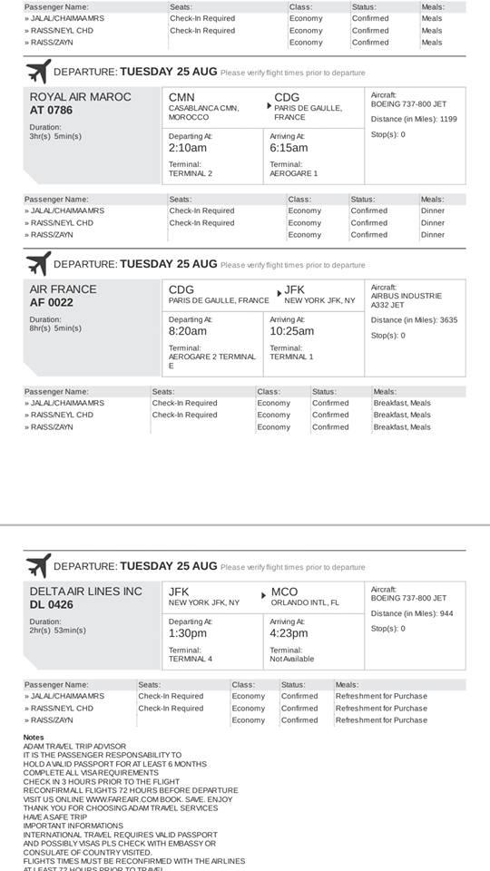 RAM flight AT 0786