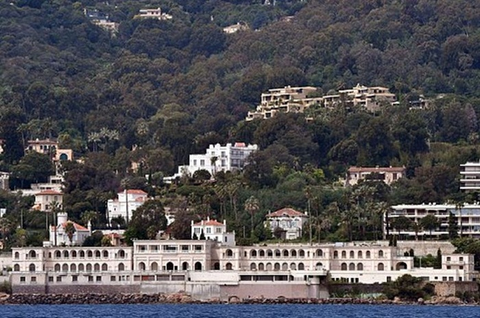 The villa in the Cote d'Azur, France.