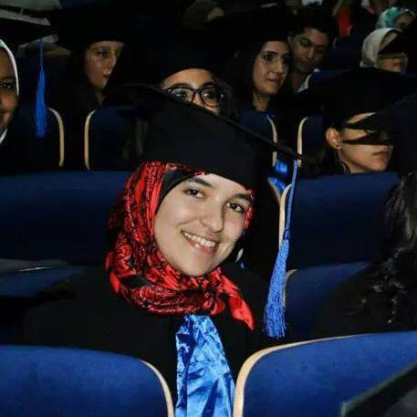 Safae Abouaycha on the graduation day from ISIC in 2014