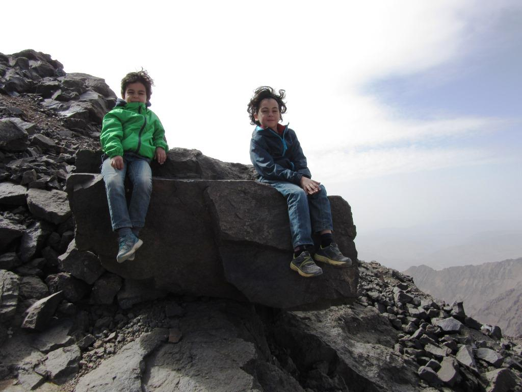 Two Brothers Become First Kids to Climb Morocco's Toubkal Mountain