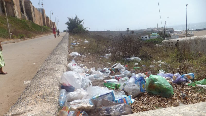 Garbage in Rabat, Morocco