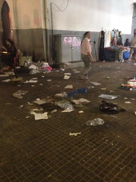Garbage in Rabat, Morocco