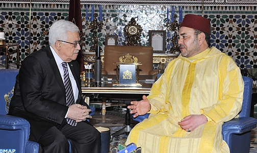 Mohammed VI with Palestinian President Mahmoud Abbas