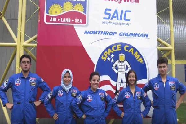Moroccan students at space camp