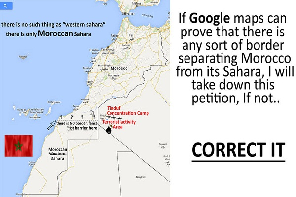 Petition Calls on Google to Correct Moroccos Map