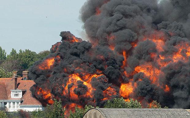 Plane crashes at Shoreham Air Show in Brighton, England