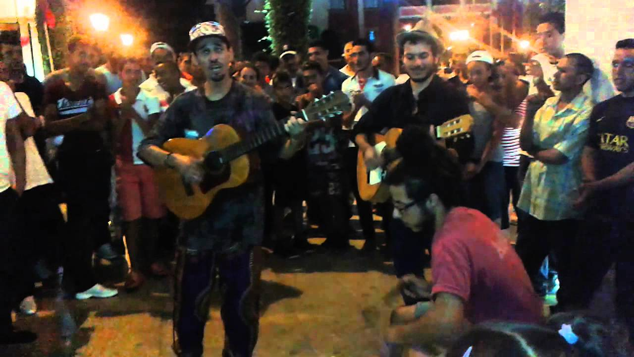 Street Music Band Entertains Passersby in Rabat