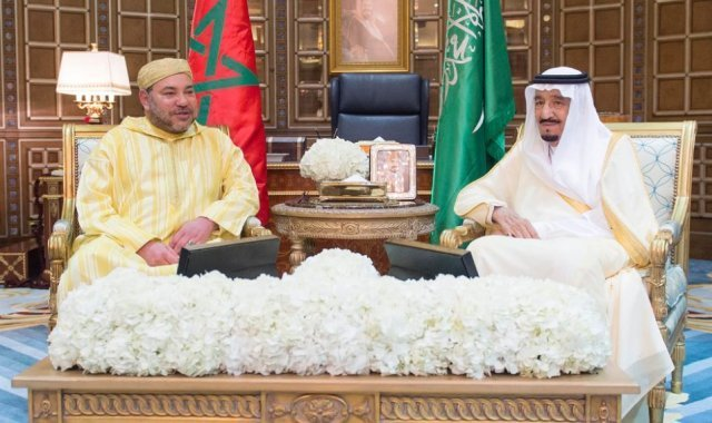 King Mohammed VI with the Custodian Two Holy Mosques King Salman of Saudi Arabia