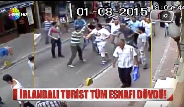 Video: Kuwaiti Tourist Beats all Shopkeepers in a Street in Turkey