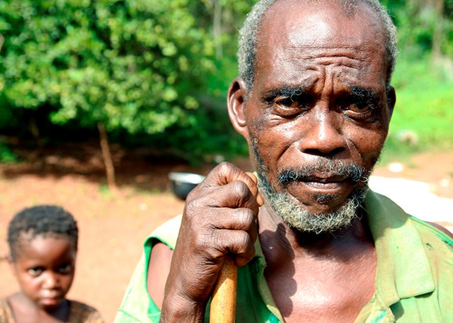 The patriarch of the sole remaining Muslim family of a village in western Central African Republic