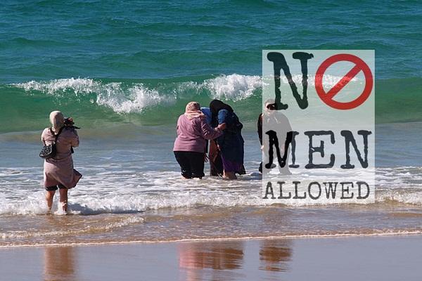 women-only beach