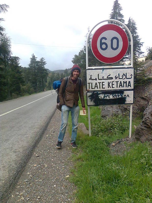 Amine Nahal , Moroccan Hitchhiker Dreams to Backpack in Borderless World