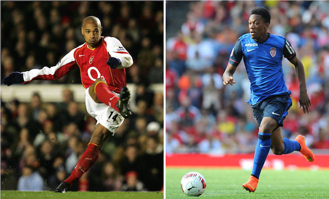 Anthony Martial & Thierry Henry