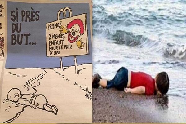 Charlie Hebdo Mocks The Death of Syrian Child Aylan Kurdi