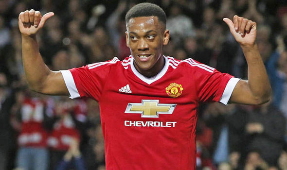 Manchester United's forward Anthony Martial