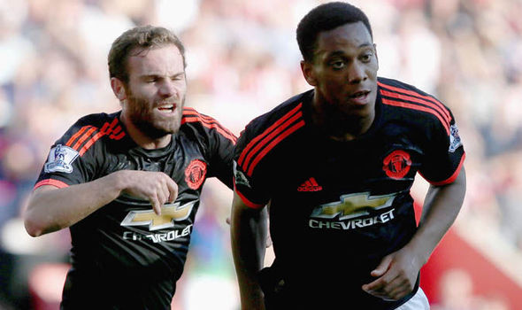 Mata Says Anthony Martial's Style of Play Benefits Whole Squad