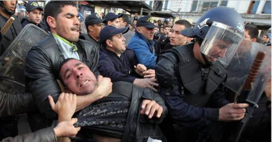 Street protest in Algeria