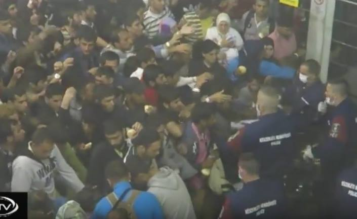 Video Shows Refugees Fed 'Like Animals in Pen' in Hungary Camp
