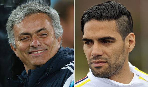 Radamel Falcao and Jose Mourinho