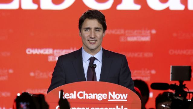 Elected Prime Minister of Canada Justin Trudeau