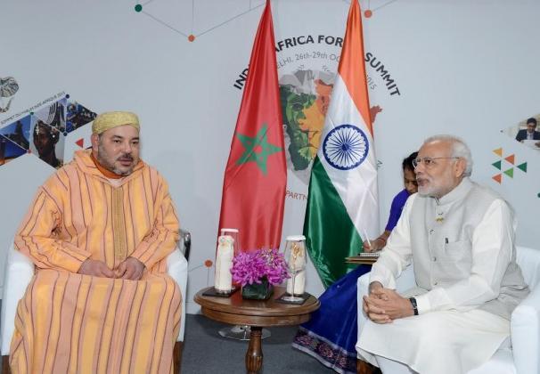 King Mohammed VI in New Delhi