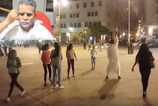 Moroccan Man in Jellaba Dances to the Rhythm of Michael Jackson, Scares People