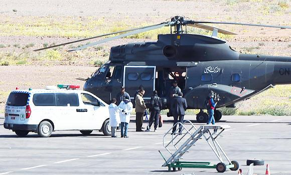 Moroccan navy recues 3 crew of Spanish military helicopter that crashed in Atlantic