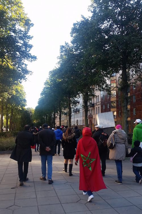Moroccans in Scandinavia March in Stockholm to Defend Morocco's Territorial Integrity