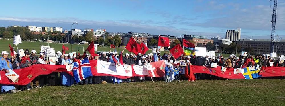 Moroccans manifestation in Sweden