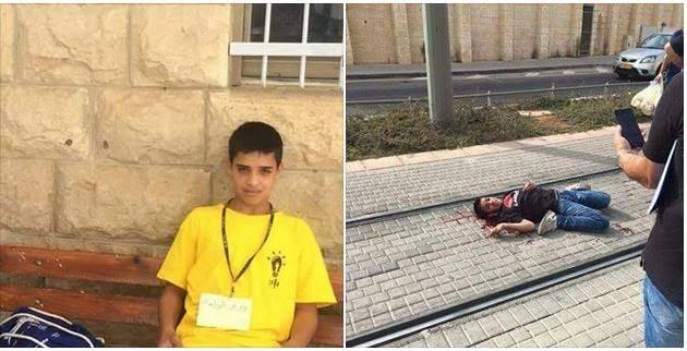 Settler Yells at Dying Palestinian Child, Ahmed Manasara